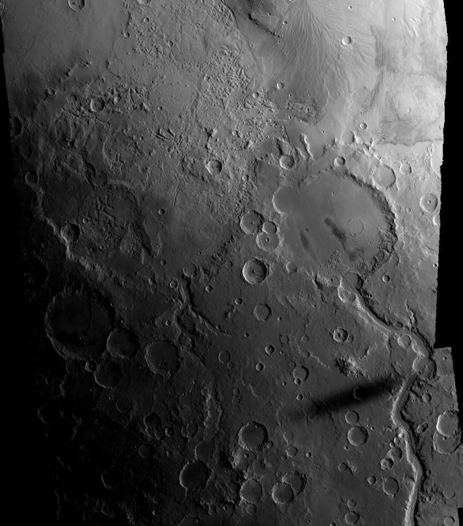 Тень луны на Марсе