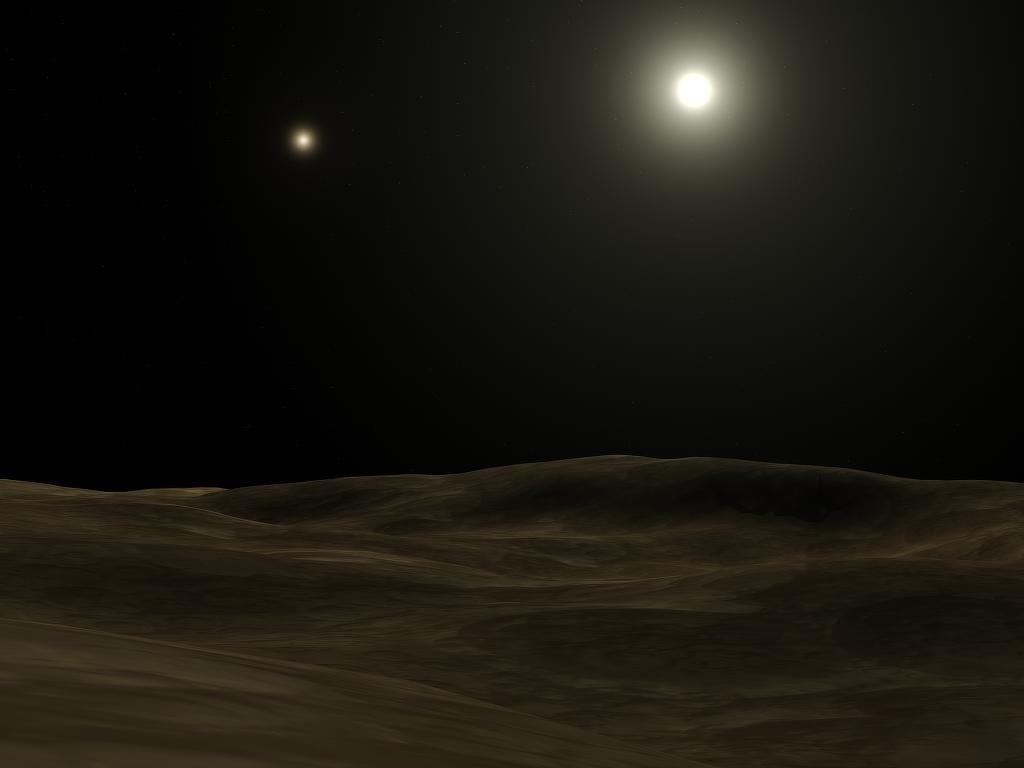 Вид с вероятной планеты в представлении художника