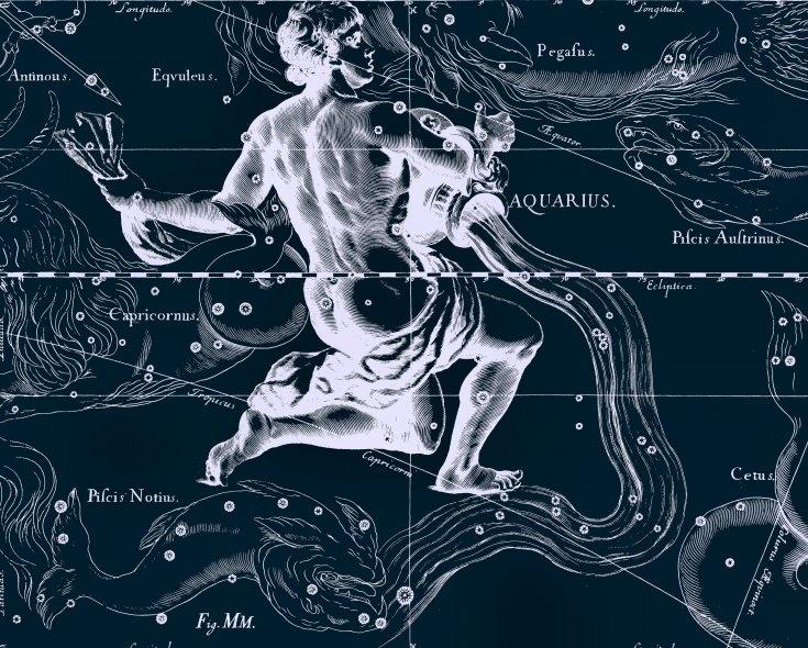 Водолей, рисунок Яна Гевелия из его атласа созвездий