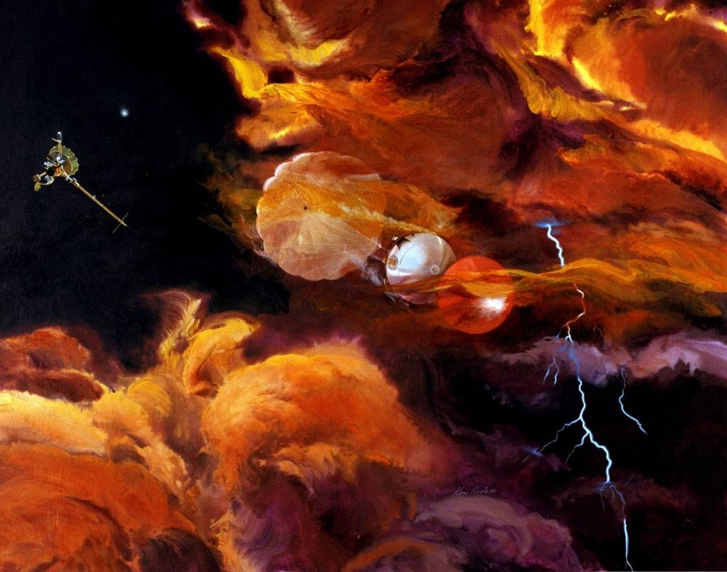 Зонд с Галилео исследует атмосферу Юпитера