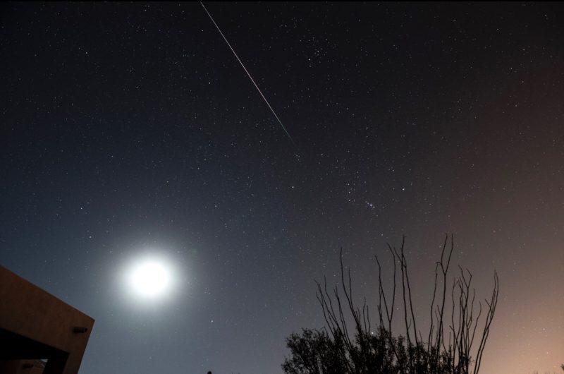 Фотография «падающей звезды» метеорного дождя Леониды