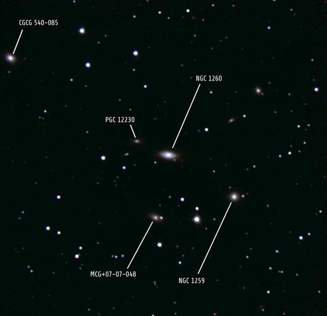Галактика NGC 1260 и ее соседи