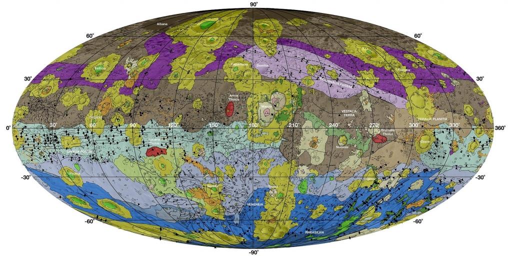 Геологическая карта Весты