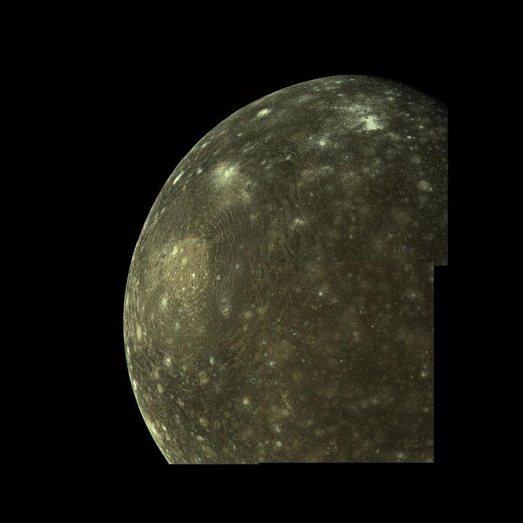 Каллисто, внимок Voyager 1 6 марта 1979 года