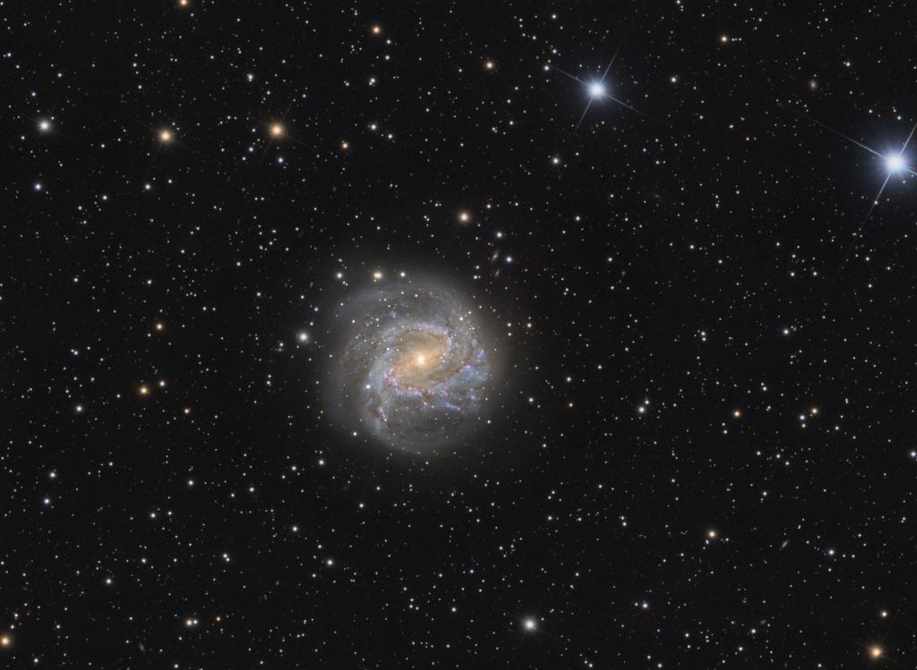 M83 (или Южная Вертушка) - спиральная галактика с перемычкой в созвездии Гидра
