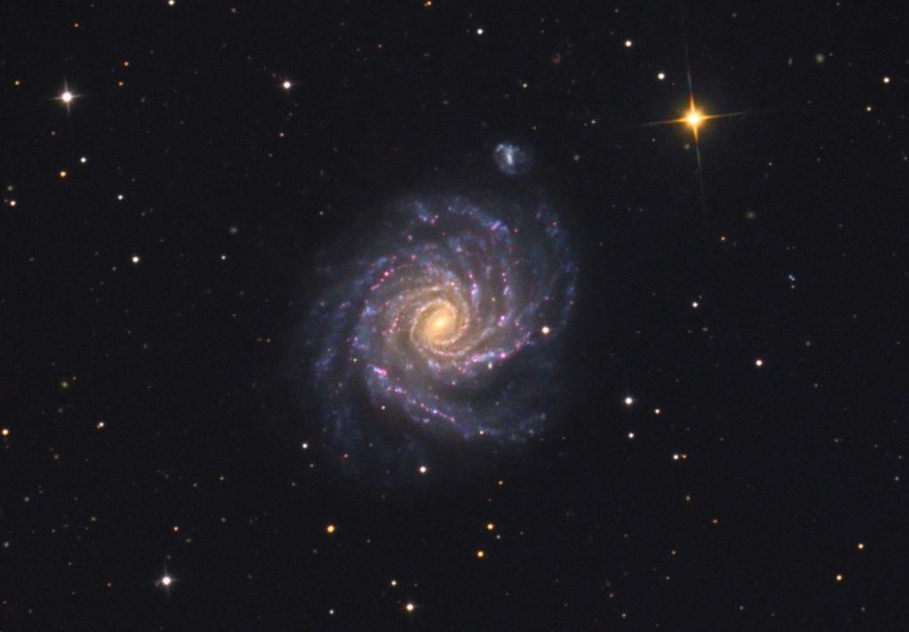 NGC 1232 - спиральная галактика с перемычкой в созвездии Эридан