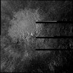 Поверхность Каллисто, спутника Юпитера, сфотографированная космическим аппаратом Галилео, 6 мая 1997 года.