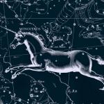Созвездие Единорог, рисунок Яна Гевелия из его атласа созвездий