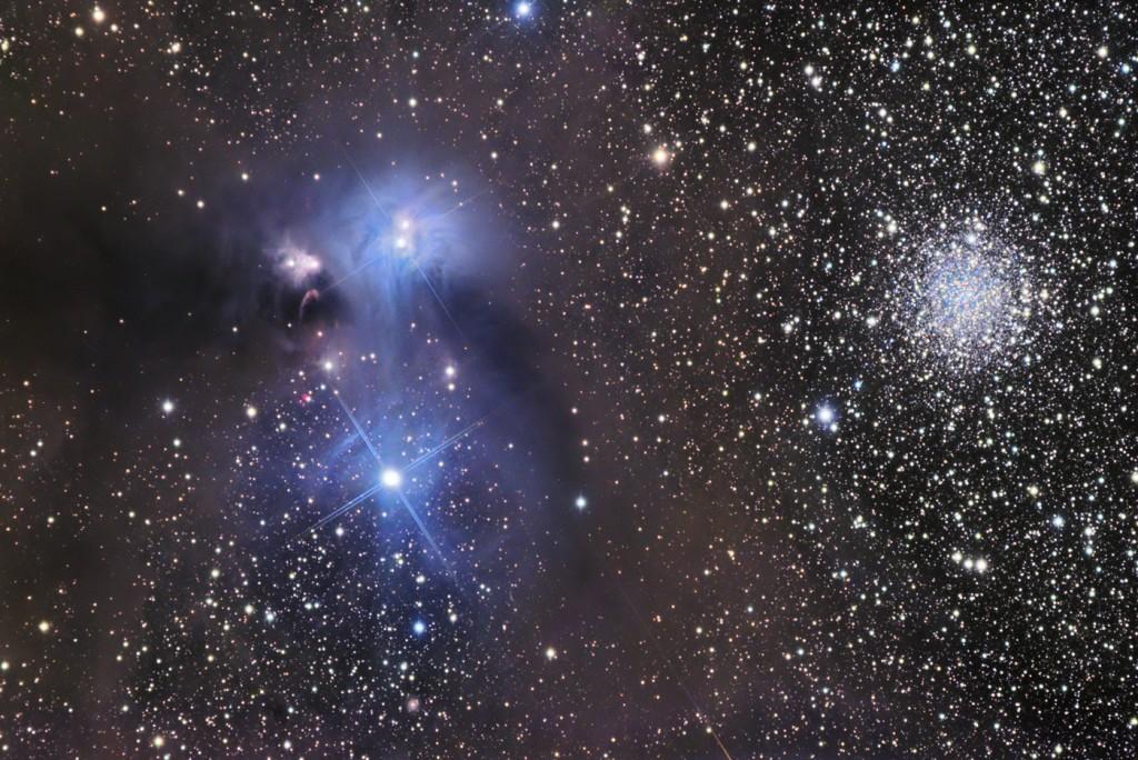 NGC 6726 и NGC 6541 (справа)