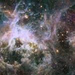 Новое, инфракрасное изображение туманности Тарантул, снимок Хаббла.