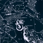 Стрела, рисунок Яна Гевелия из его атласа созвездий