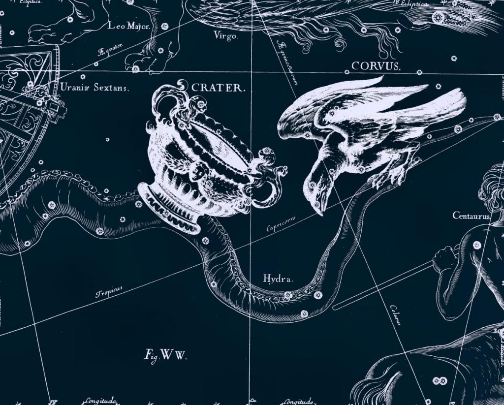 Чаша, рисунок Яна Гевелия из его атласа созвездий