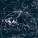 Малая Медведица, рисунок Яна Гевелия из его атласа созвездий