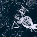 Павлин, рисунок Яна Гевелия из его атласа созвездий
