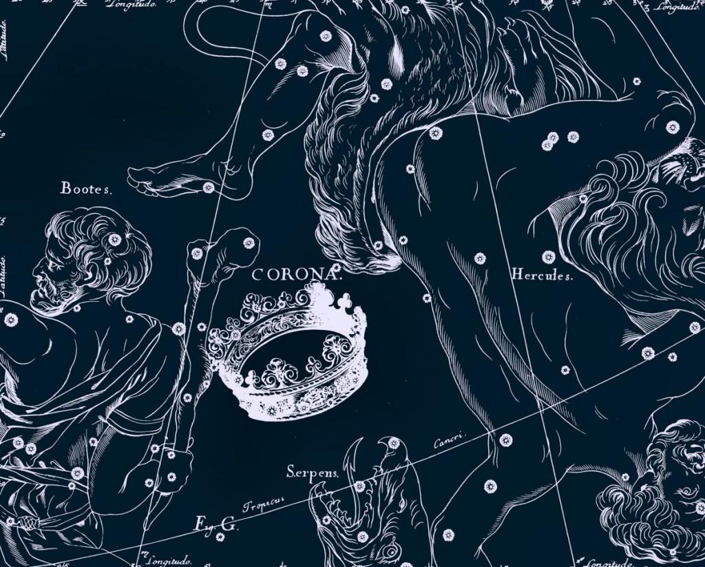 Северная Корона, рисунок Яна Гевелия из его атласа созвездий