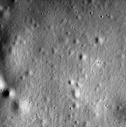 Последний снимок Меркурия, переданный перед самым падением Мессенджера