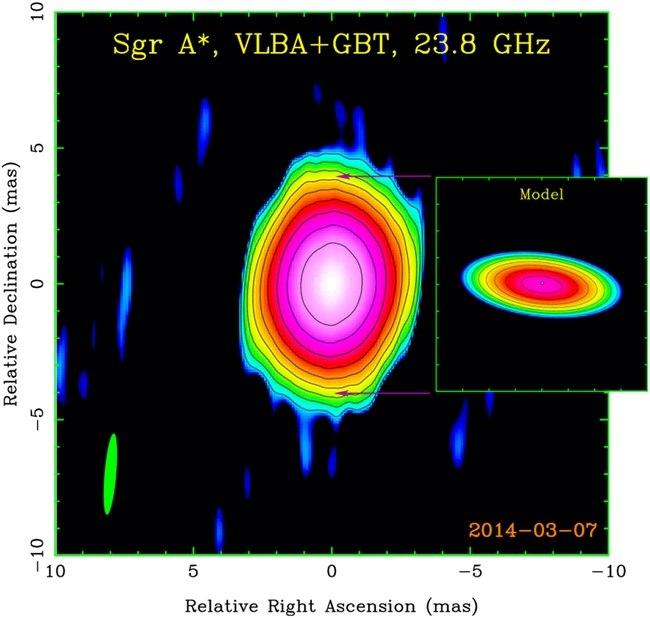 Структуры вокруг черной дыры в центре нашей Галактики
