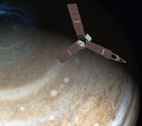 Юнона над полюсом Юпитера