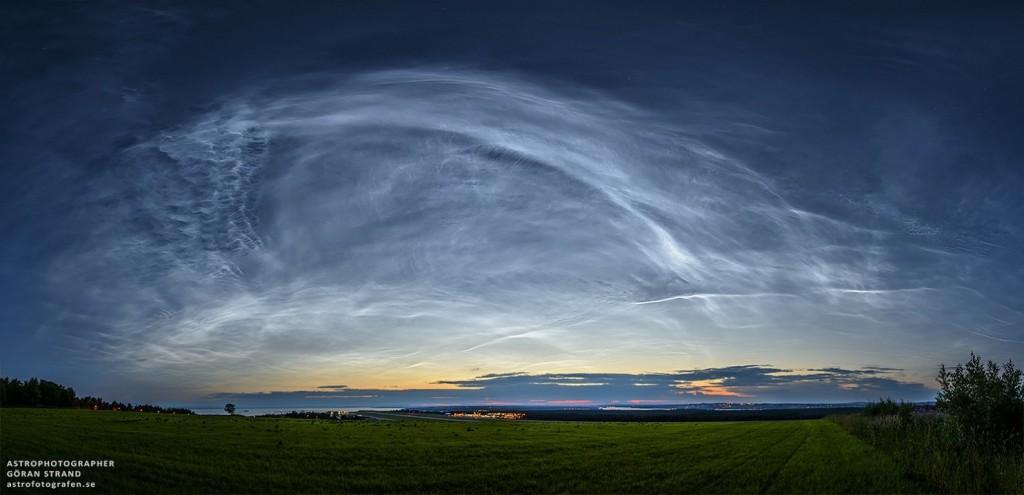 Серебристые облака над Швецией