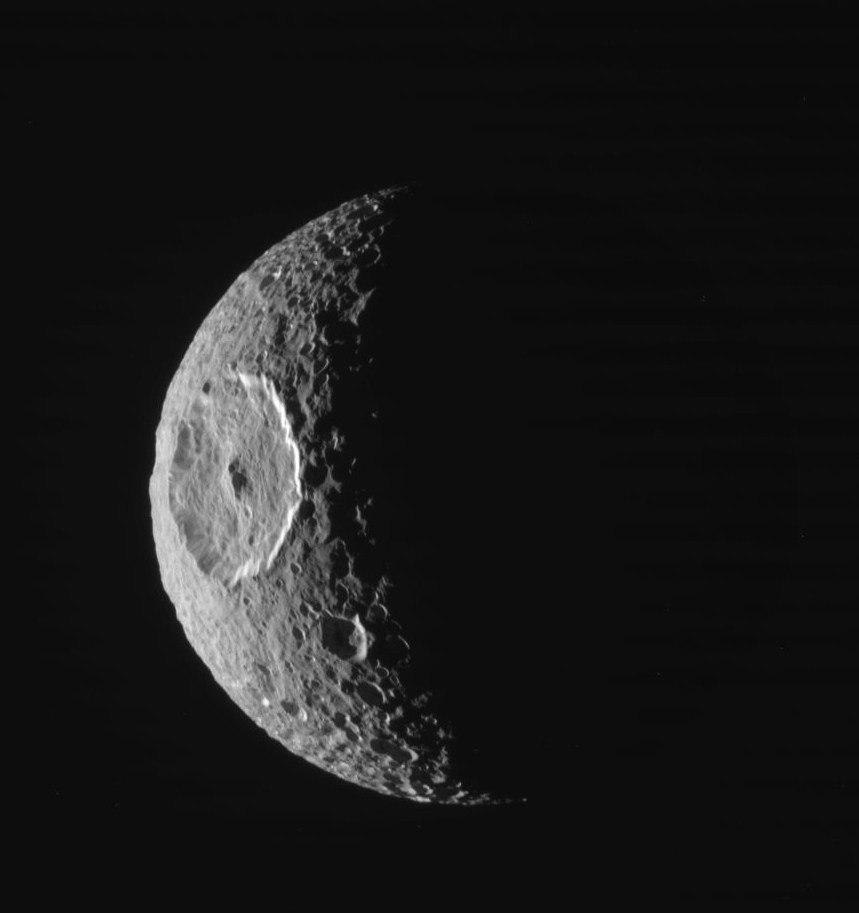 Ударный кратер Гершель на Мимасе