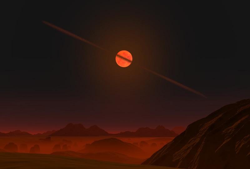 Астероидный диск вокруг коричневого карлика (рисунок)