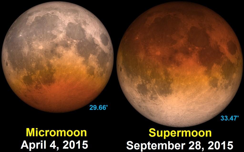 Полнолуние и лунное затмение 28 сентября 2015 года