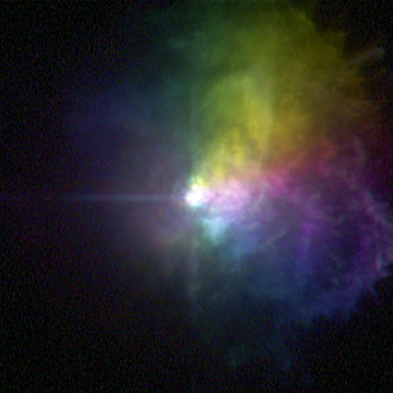 Гипергигант VY Большого Пса выбрасывает огромное количество газа во время своей вспышки