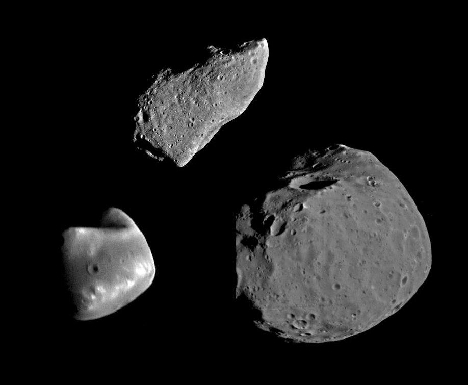 Гаспра и спутники Марса