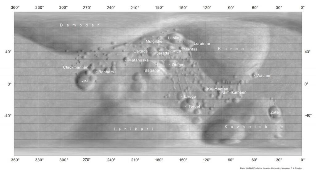 Карта поверхности Матильды