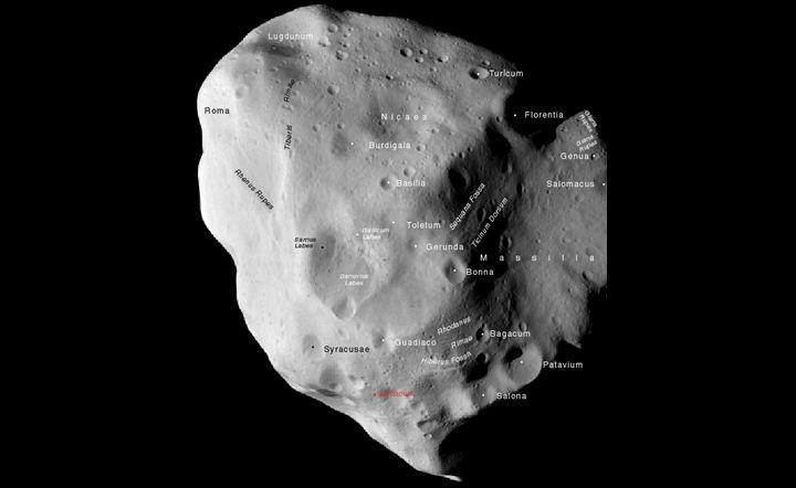Обозначения кратеров
