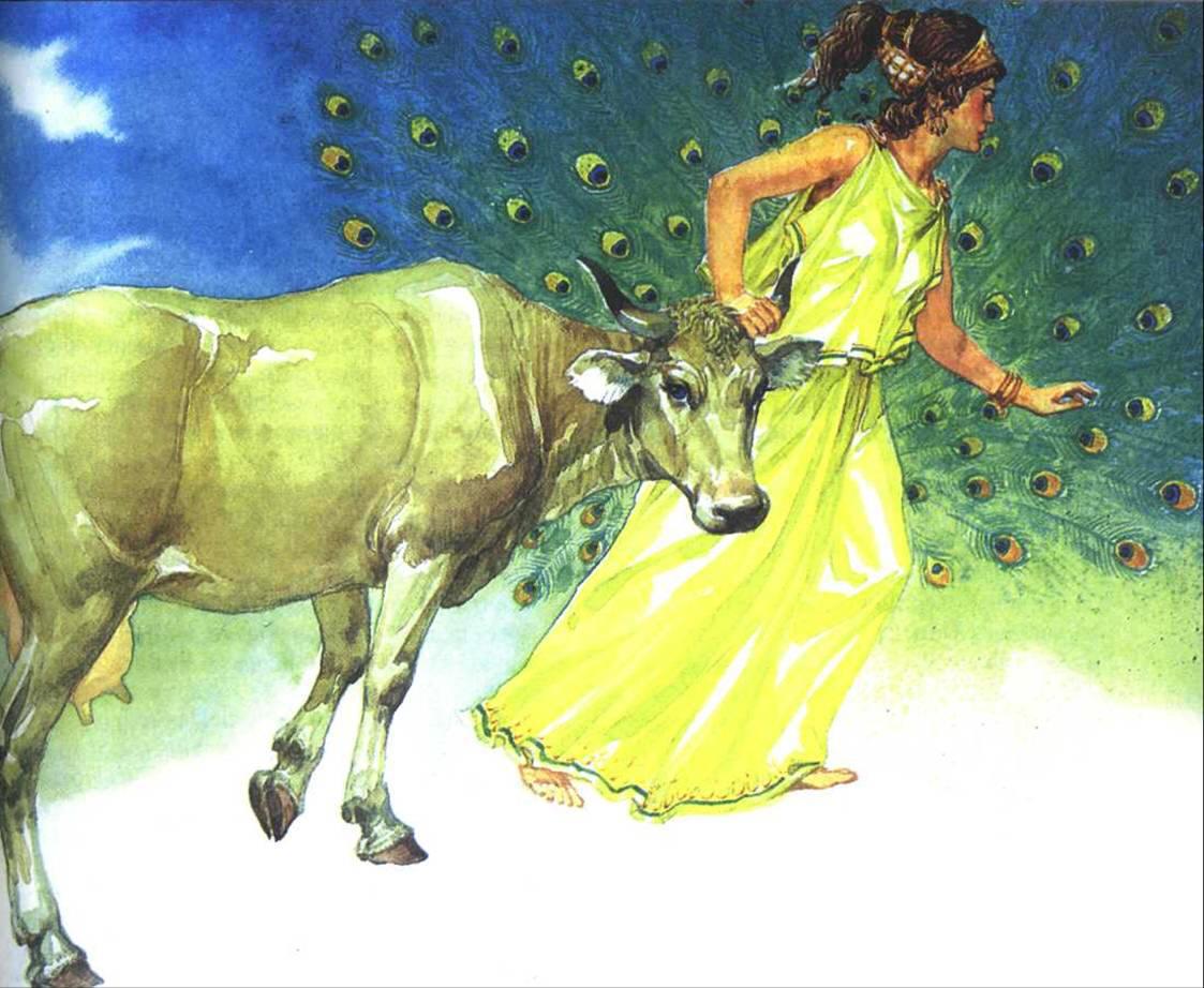 Богиня Гера и Ио в коровьем облике