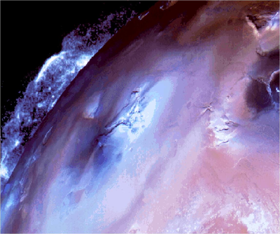 Извержение на Ио, снимок Вояджера.