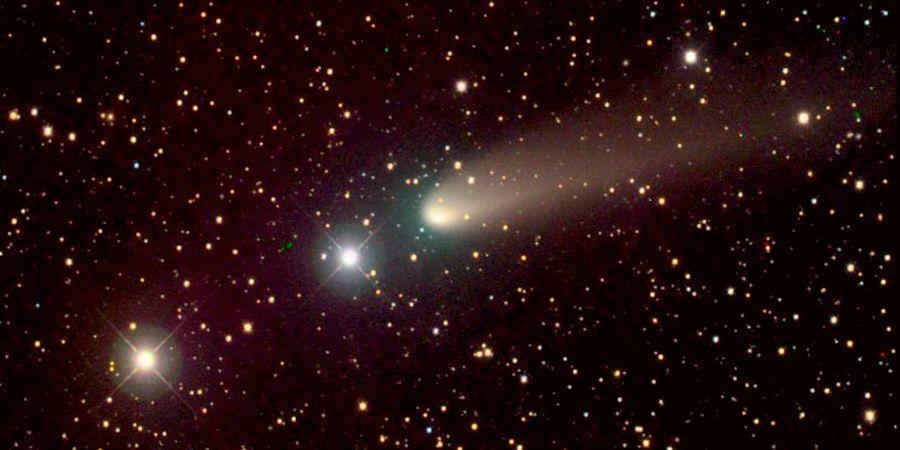 Комета Вильда на звездном небе