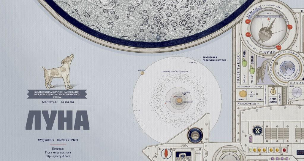 Карта Луны для детей