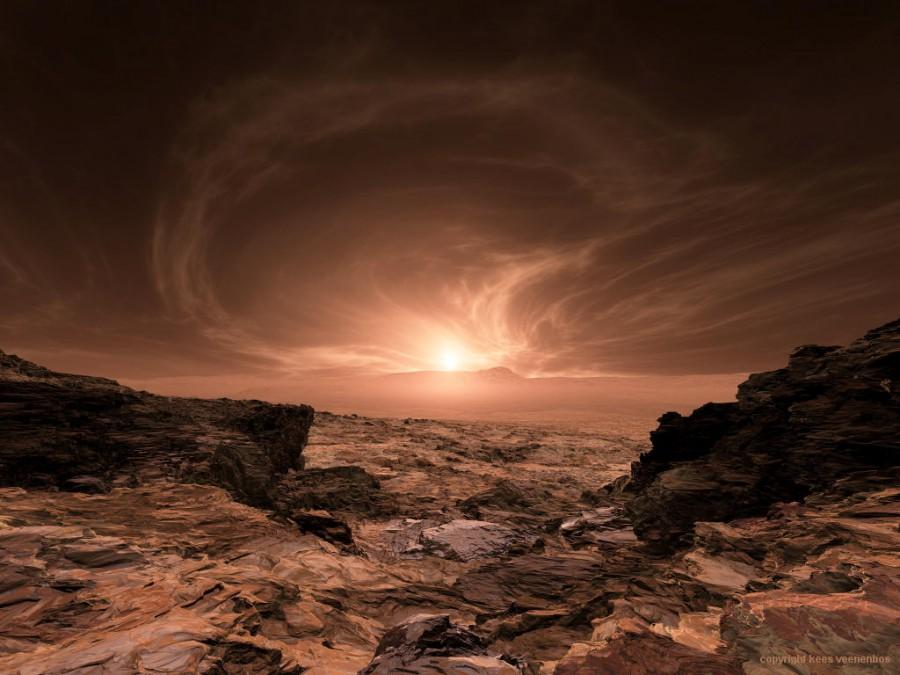 Облака на Марсе