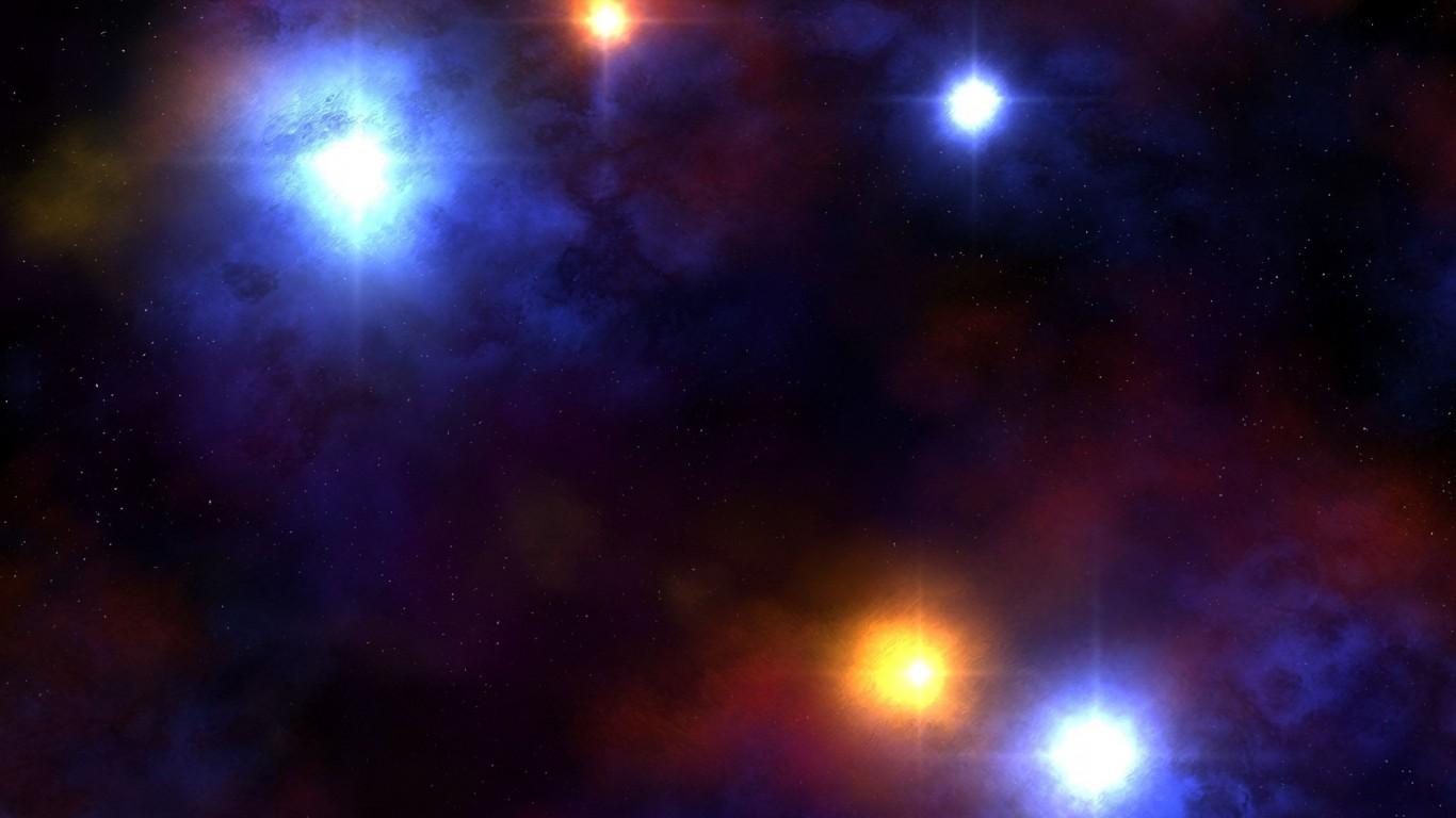 Первые звезды во Вселенной в представлении художника