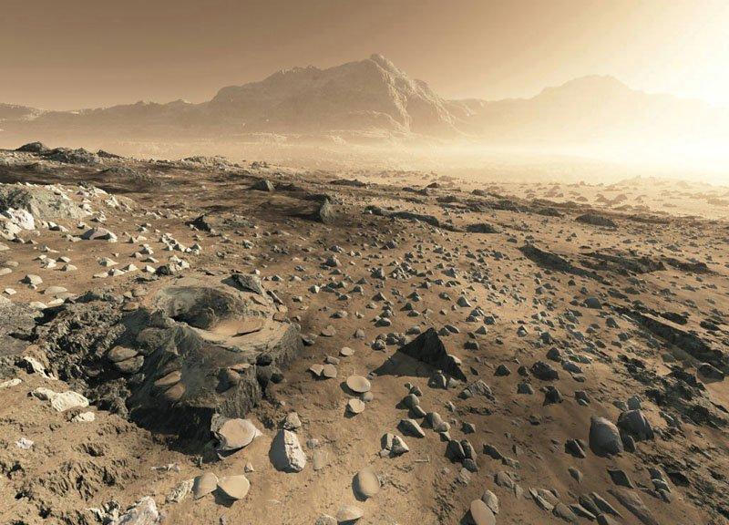 Типичный пейзаж на Титане