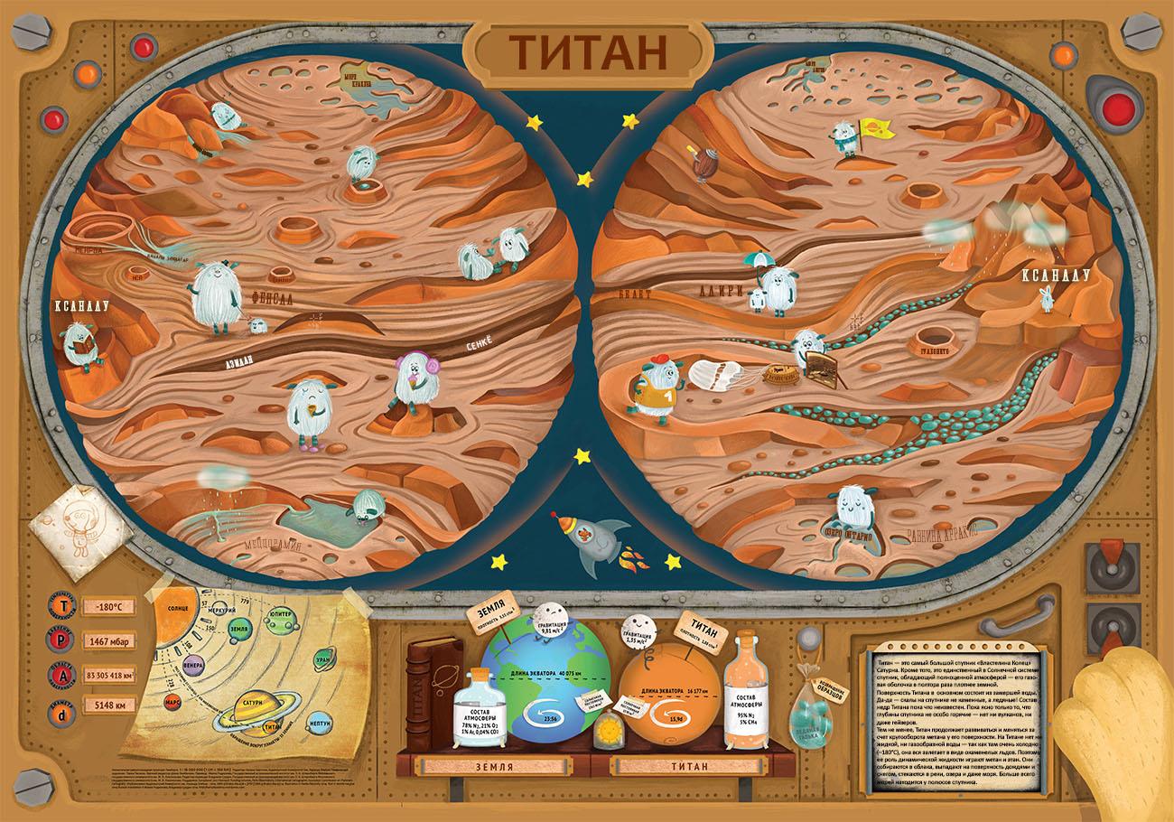 Карта Титана для детей.