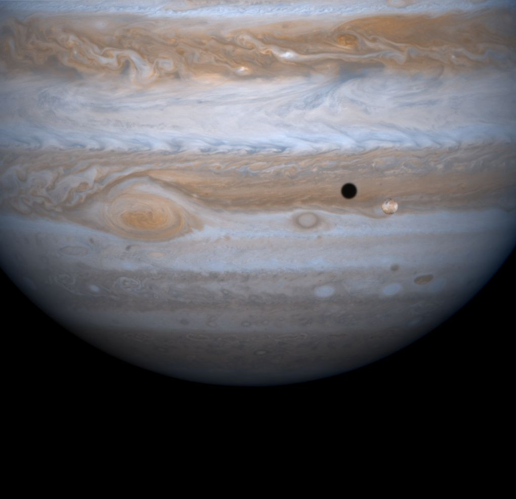 Юпитер, Ио и ее тень