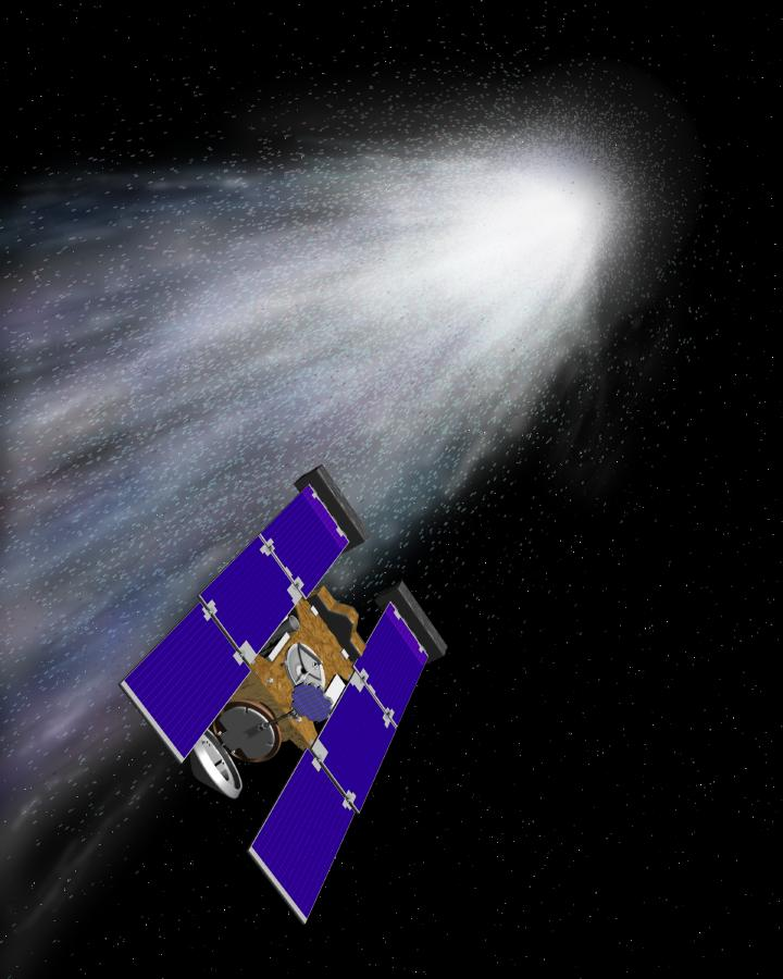 Зонд Stardust преследует комету Вильда-2