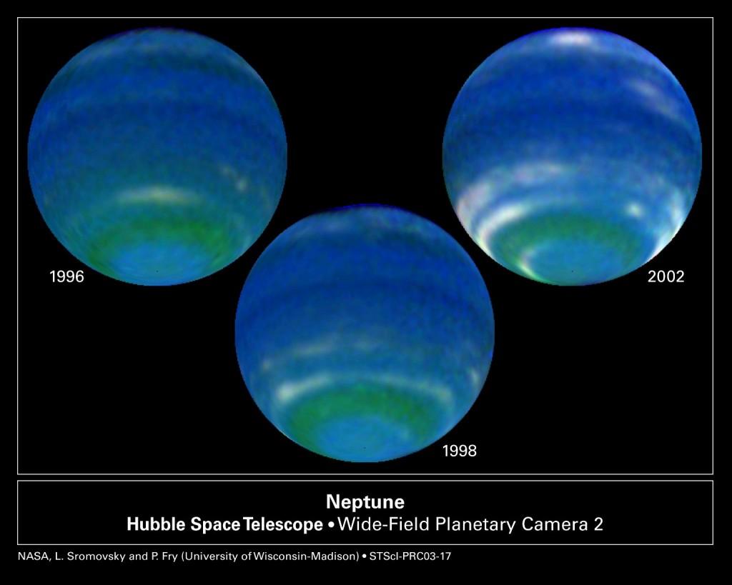 Лучшие снимки Нептуна