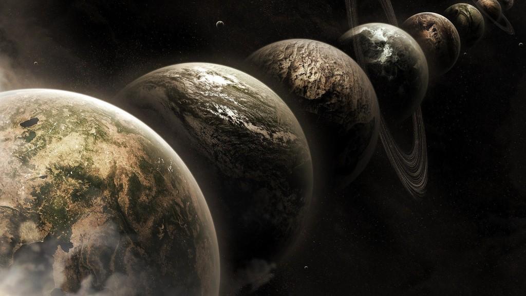 Парад планет в представлении художника
