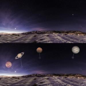 Венера, Сатурн, Марс и Юпитер в параде планет 2016-го года