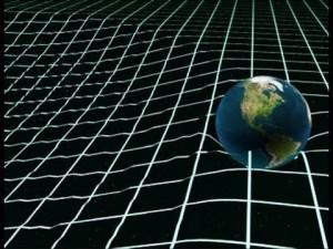 Пространство-время, искаженное Землей