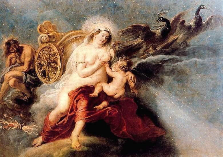 Возникновение Млечного Пути. Гера и Геракл в представлении Рубенса