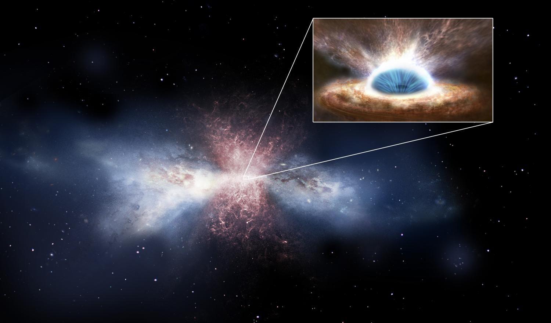 Черная дыра в ядре галактики