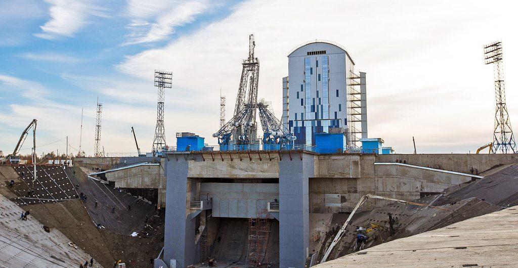 Космодром Восточный в процессе строительства