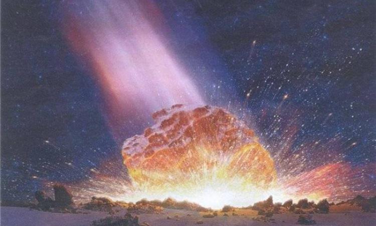 Так выглядит падение Аризонского метеорита в представлении художника