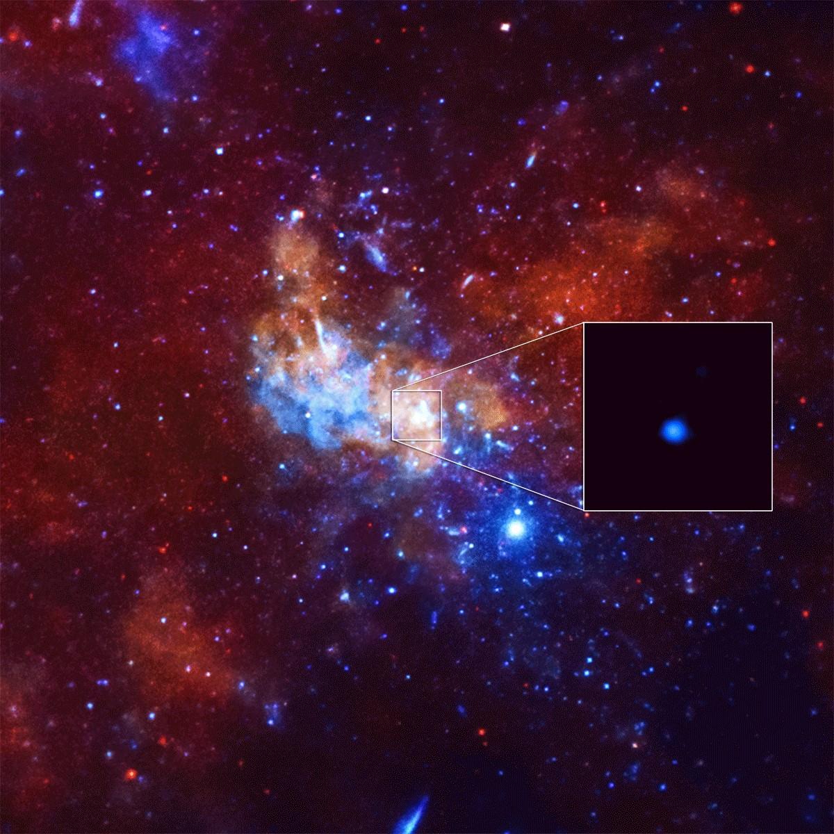 Снимок центра Млечного Пути