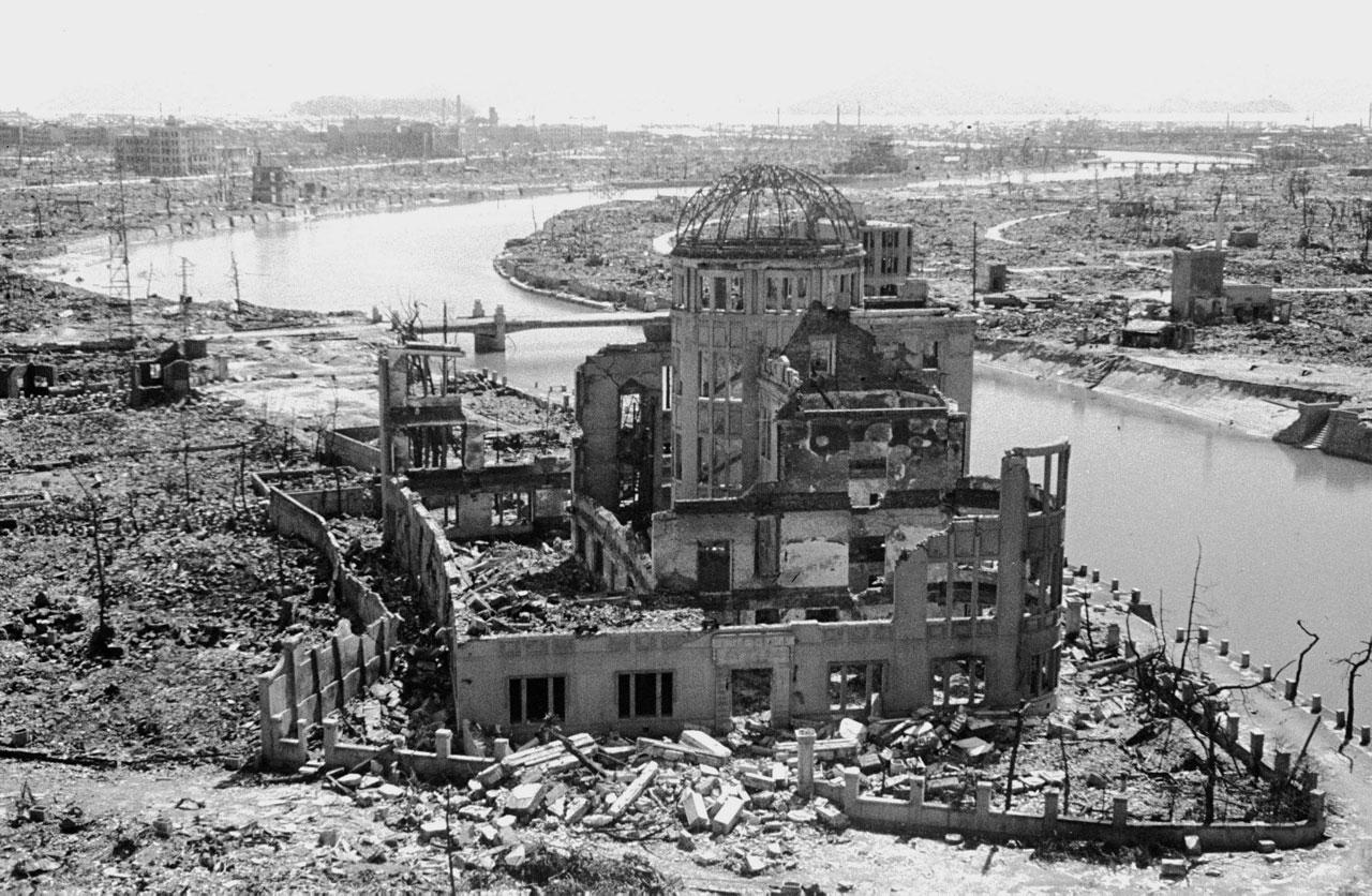 Этот дом находился за 260 метров от эпицентра взрыва в Хиросиме